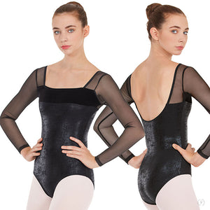 Eurotard Womens Dimensional Mesh Sleeve Leotard - Dancetastic Dancewear