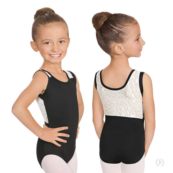 Eurotard Girls Impression Mesh Back Tank Leotard - Dancetastic Dancewear