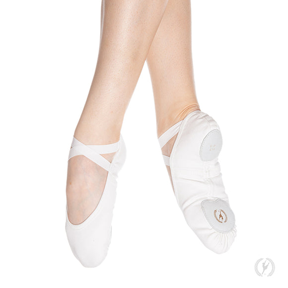 Eurotard Child Assemble Canvas Ballet Shoes-Pink, Black, or White - Dancetastic Dancewear