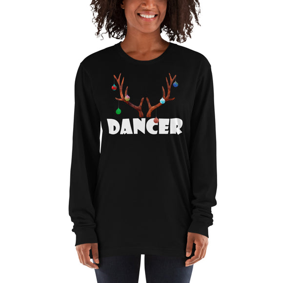 Reindeer Dancer Long sleeve t-shirt - Dancetastic Dancewear