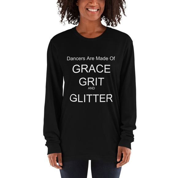 Grace Grit and Glitter Long sleeve t-shirt - Dancetastic Dancewear