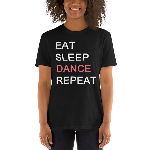 Eat Sleep Dance Repeat Short-Sleeve Unisex T-Shirt