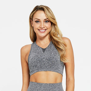 Seamless Tummy Control Shorts with Matching Racerback Push Up Padded Crop Top - Dancetastic Dancewear