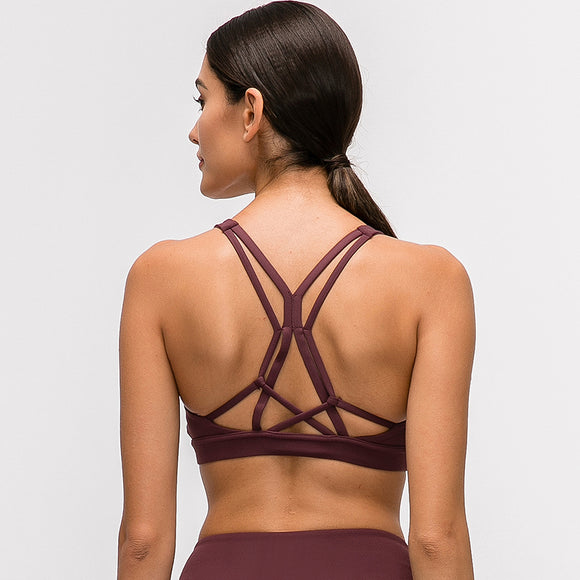 Strappy Naked-feel Crop Top with Padded Push Up - Dancetastic Dancewear