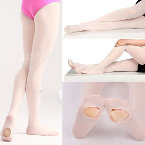 Convertible Tights Ballet Dance Stocking Pantyhose for Kids & Adults S M L - Dancetastic Dancewear