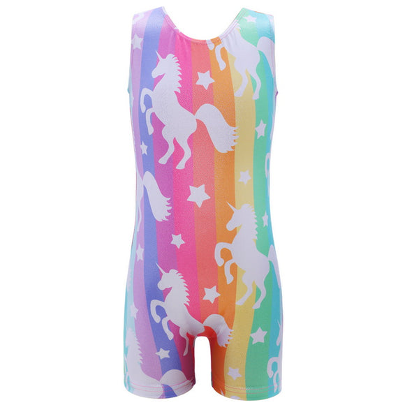 Girls Unicorn Biketard - Dancetastic Dancewear
