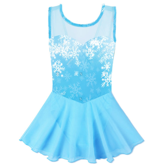 Girls Snowflake Princess Dance Dress - Dancetastic Dancewear