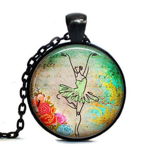 Ballerina Pendant Necklace - Dancetastic Dancewear