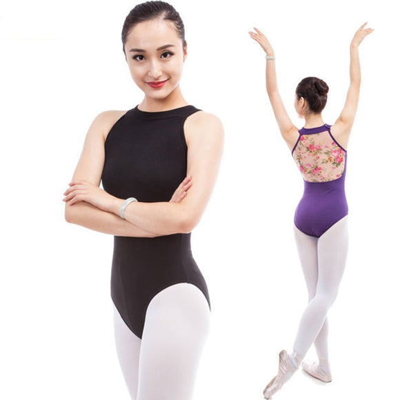 Adult Printed Mesh Back Leotard - Dancetastic Dancewear