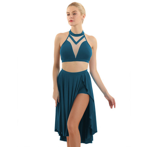 Asymmetric Lyrical Dance Costume - Dancetastic Dancewear