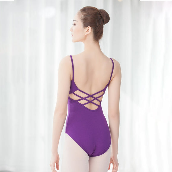 Camisole Pinch Front Leotard with Criss Cross Back - Dancetastic Dancewear