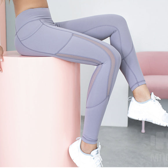 Leggings With Side Pocket Dry-Fit Mesh - Dancetastic Dancewear