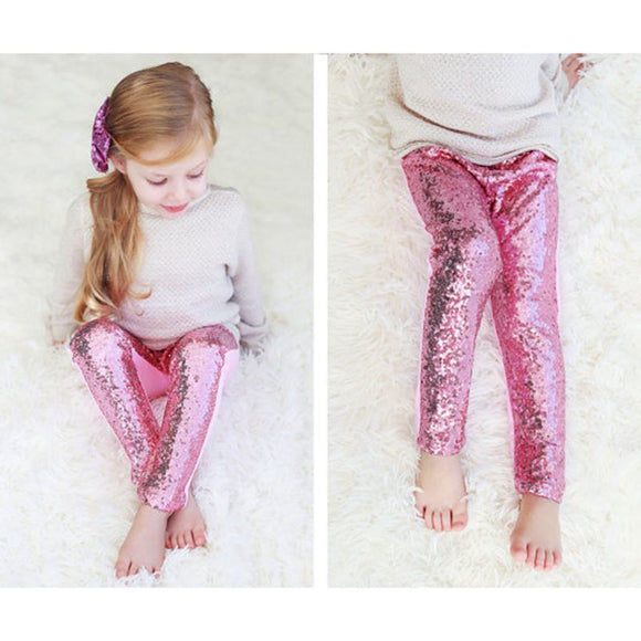 Sequin Leggings For Girls - Dancetastic Dancewear