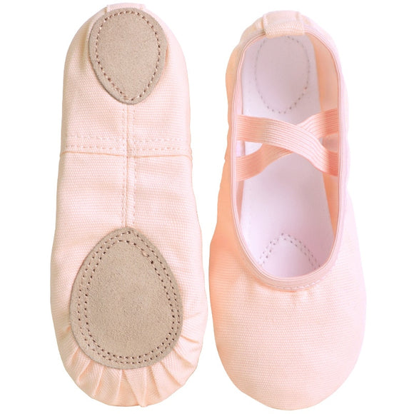 Canvas Split Sole Ballet Shoes Girls Women - Dancetastic Dancewear