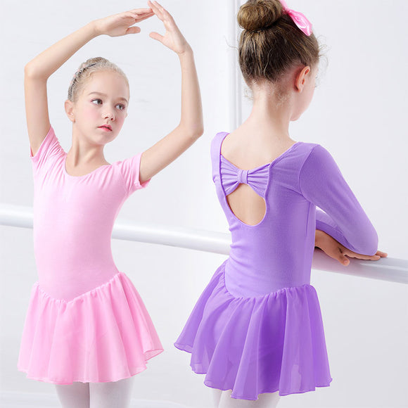 Girls Ballet Dress With Chiffon Skirt - Dancetastic Dancewear