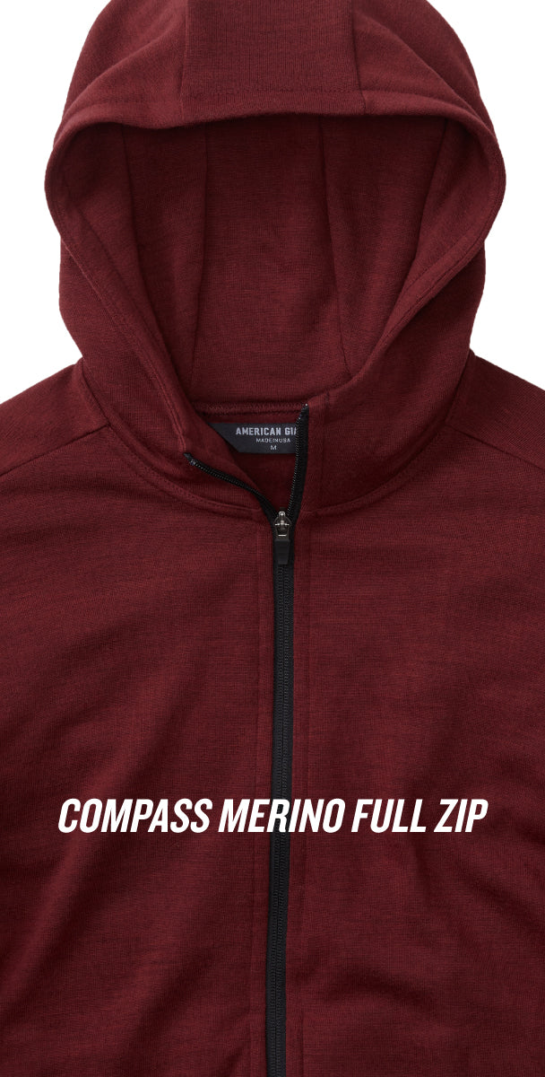 Compass Merino Full Zip