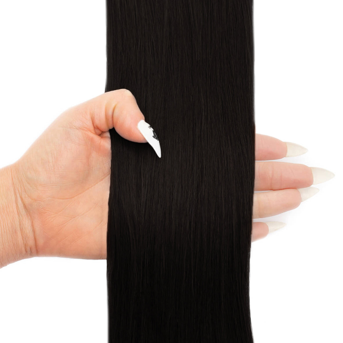 "Beauty Works - Deluxe Clip-in 16"" (#1 - Jet Set Black)"