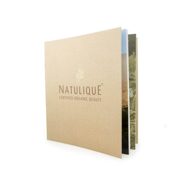 Natulique brochure on rock paper
