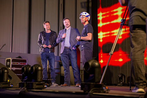Matt Williams, Mr MPW - Presenting Live on the Main Stage at the UK Drone Show 2018 with Jason Bradbury and Andy Jaye