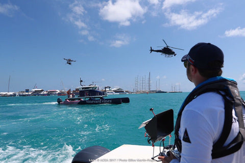 Matt Williams | MR MPW | Flying the Freefly Systems Alta 8 in Bermuda for the 35th America's Cup, alongside an H125 flown by Michael Franck of @Eliterotorcraft, Chicago and @aaronfitzgerald105 of the Red Bull Airforce.