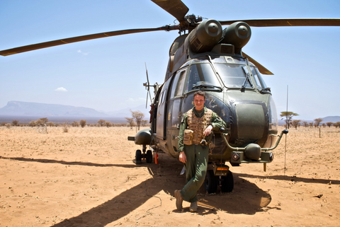 Matt Williams, Mr MPW - On operations in with the RAF in Central Africa, flying the Puma HC1