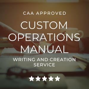 CAA Approved Drone Operations Manual Writing and Creation Service | Mr MPW