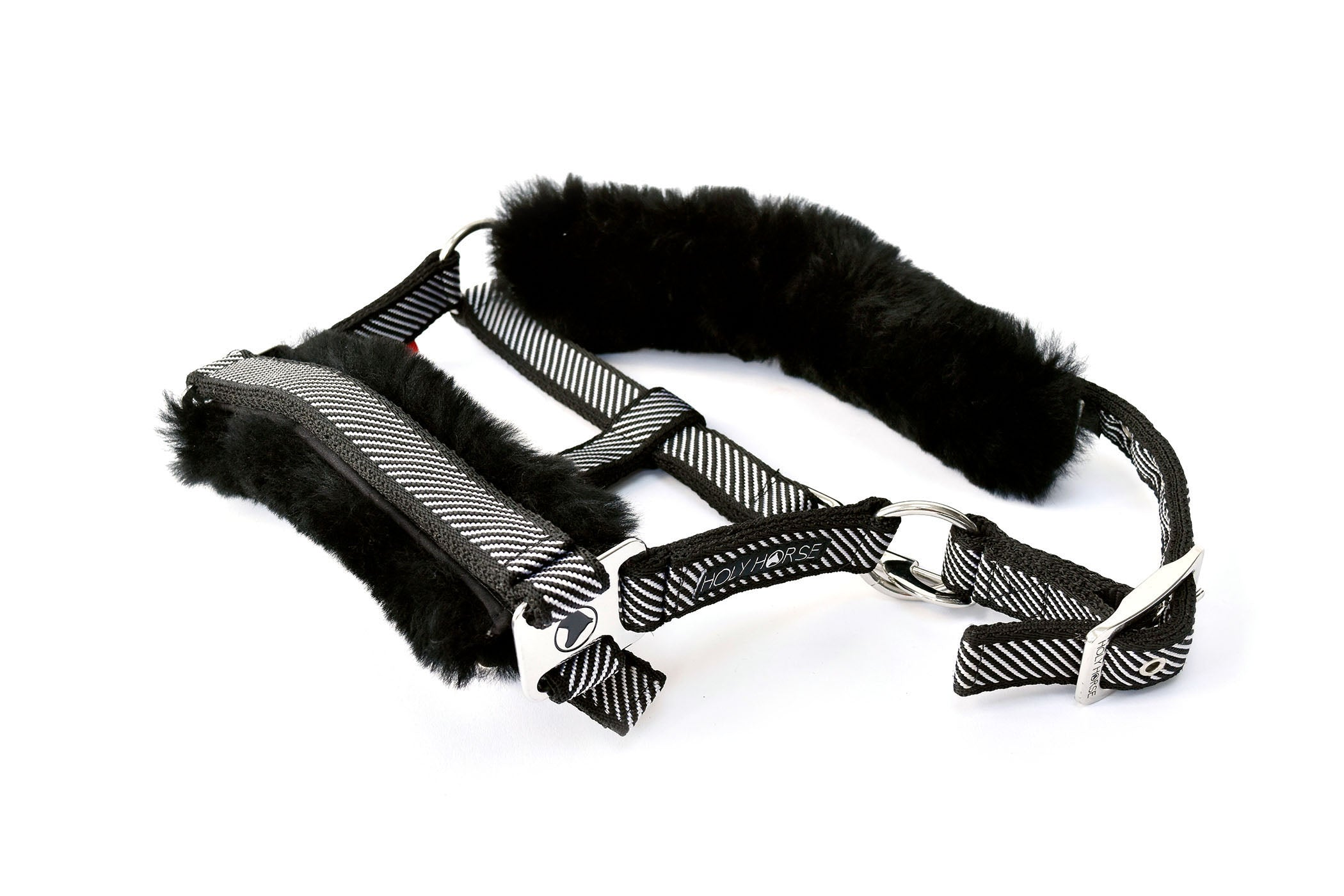 Diagonal Head Collar with Sheepskin
