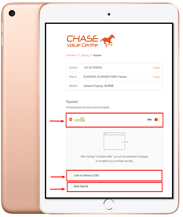 Chase Value Online Payment