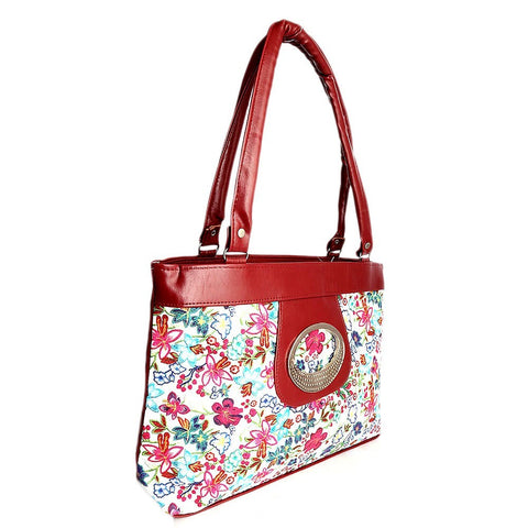 women floral printed handbag