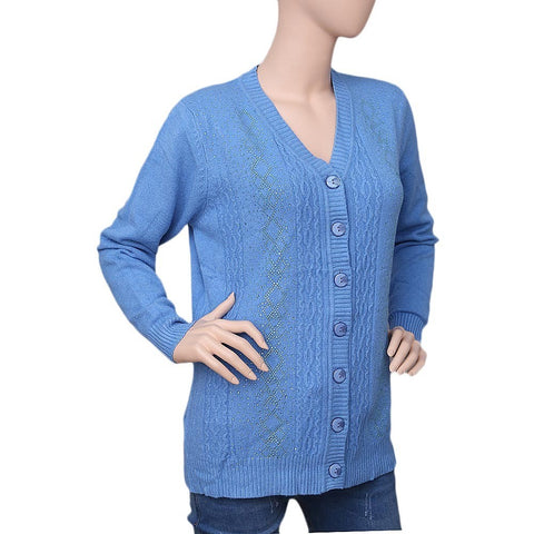 womens blue full sleeves sweater
