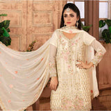 Ruby Alluring Embroidered Chiffon 3 Piece Semi-Stitched Suit - 04