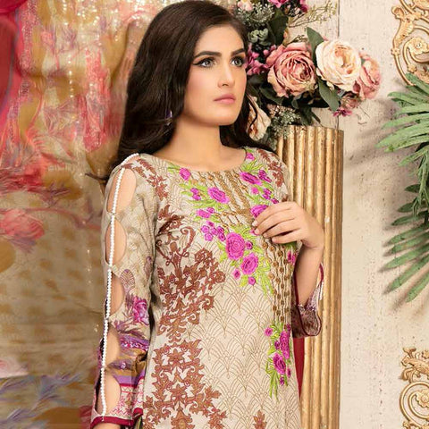 Gulzeb Embroidered Lawn Un-Stitched Suit - 12