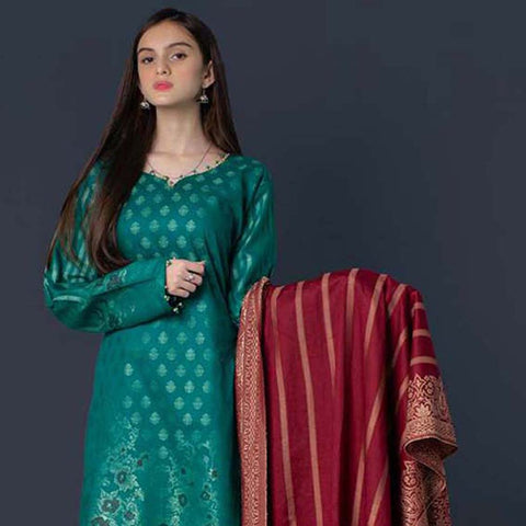 RA Jacquard Cambric 3 Piece Un-Stitched Suit Vol 2 - 1