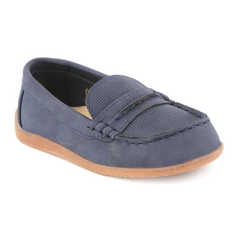 Boys Loafer (021-1) - Navy Blue - test-store-for-chase-value