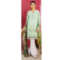 Women's Printed Khaddar 3 Pcs Un-Stitched Suit - 4