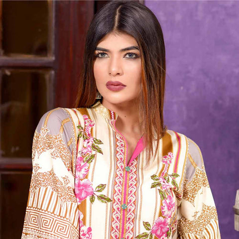 Riwaj Printed Lawn 3 Piece Un-Stitched Suit Vol 1 - 2 A