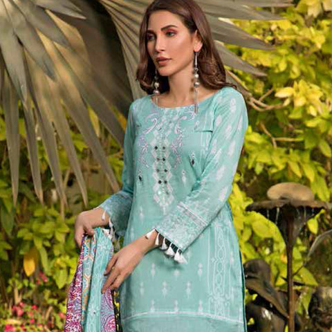 Colors Printed Lawn 3 Piece Un-Stitched Suit Vol 2 - 2B