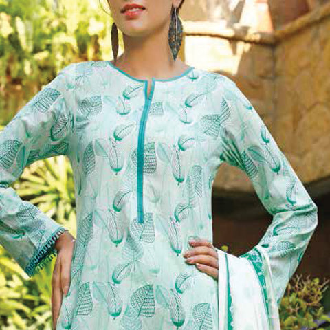 VS Signature Printed Lawn 3 Piece Un-Stitched Suit Vol 2 - 3 B