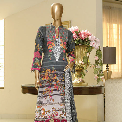 Chiragh Digital Luxury Embroidered Un-Stitched Suit - 3