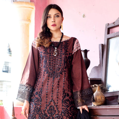 Maira Ahsan Embroidered Lawn 3 Piece Un-Stitched Suit - 04