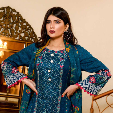 Bin Saeed Alishba Embroidered Lawn 3 Piece Un-Stitched Suit Vol 02 - B4
