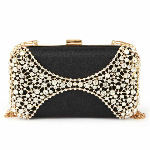 Women's Bridal Clutch - Black