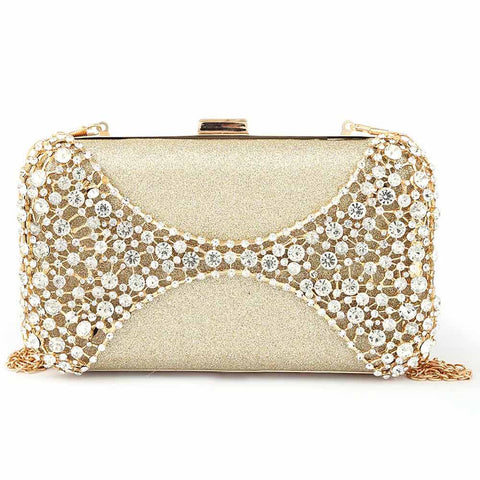 Women's Bridal Clutch - Golden