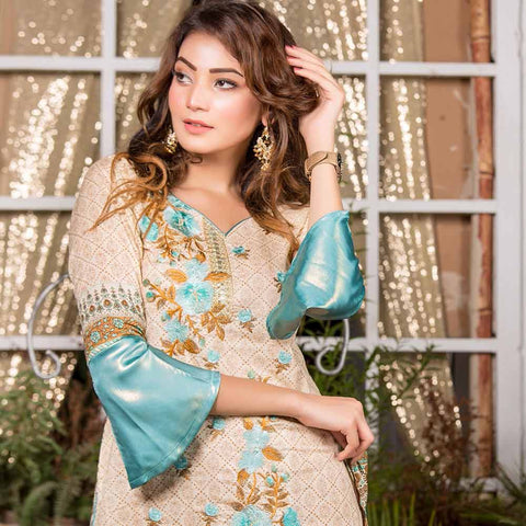Iraar Embroidered Lawn 3 Piece Un-Stitched Suit - 4B