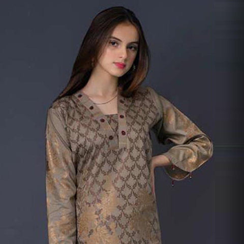 RA Jacquard Cambric 3 Piece Un-Stitched Suit Vol 1 - 4