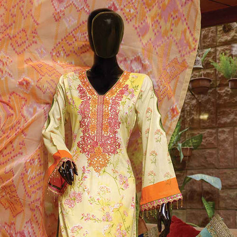Chiragh Luxury Embroidered Un-Stitched Suit - 4A