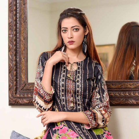Riwaj Printed Lawn 3 Piece Un-Stitched Suit Vol 1 - 4 B