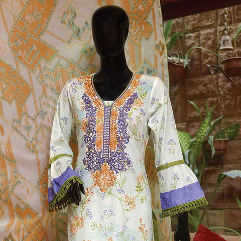 Chiragh Luxury Embroidered Un-Stitched Suit - 4B