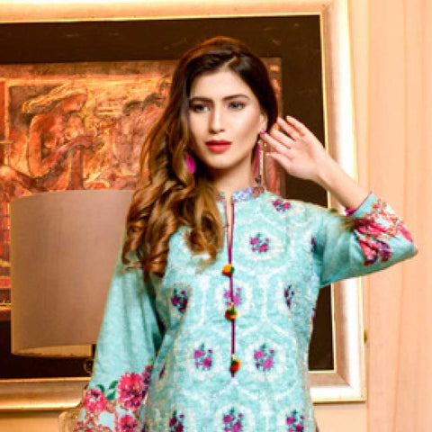 Bin Saeed Alishba Embroidered Lawn 3 Piece Un-Stitched Suit Vol 02 - B5