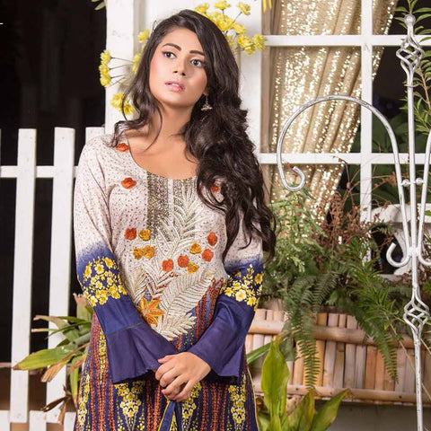 Iraar Embroidered Lawn 3 Piece Un-Stitched Suit - 5A